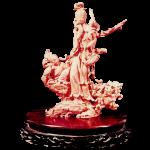 珊瑚 彫刻