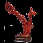 赤珊瑚 彫刻 置物