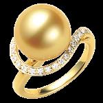 ダイヤ付きパールリング(真珠)買取