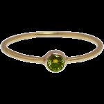 オリーブグリーンダイヤのゴールドリング
