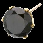 ブラックダイヤピアス