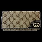 グッチ GGキャンバス 三つ折り長財布