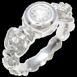 カレライカレラフラワーダイヤモンドリング