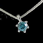 プラチナ0.1ctブルーダイヤモンドネックレス