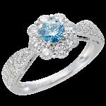 Pt900プラチナアイスブルーダイヤモンドリング