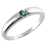 ピンキーリングプラチナリングブルーダイヤモンド