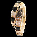 セルペンティ ダイヤモンド/オニキス 腕時計 ピンクゴールド