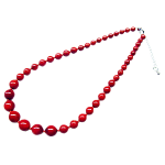 赤珊瑚ピアス、ネックレス