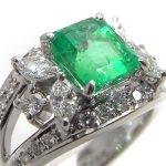 Tasaki Emerald diamond ring