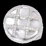 パシャ ホワイトシェルダイヤリング
