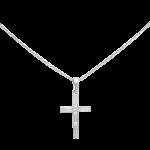 ブシュロン クロス ダイヤモンドネックレス