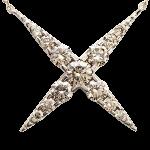ブラウンダイヤモンド1.00ct 18金 ネックレス
