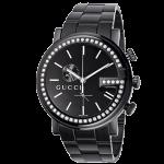 グッチ 時計ブラック クロノグラフ