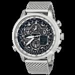 Citizen(シチズン) 時計 エコドライブ ナビホーク JY8030-83E ブラック×メッシュベルト