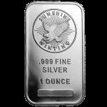 1オンス サンシャインミント .999 純銀 バー インゴット ID付