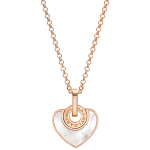 Bulgari Bulgari Cuore pinkgold necklace with MOP
