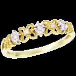 指輪イエローゴールド・ホワイトゴールドダイヤリング