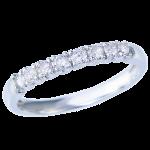 指輪ホワイトゴールドダイヤリング