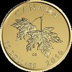 カナダ2016年メイプルリーフと2003年の女王エリザベス2世10ドル金貨リバースプルーフ