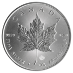 カナダ2014年メイプルリーフ5ドル銀貨(1オンス)