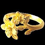 24K純金リング2輪の桜の花24kPureGoldRing