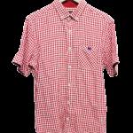 半袖リネンシャツ レッド