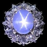 スターサファイア ダイヤリング Pt900
