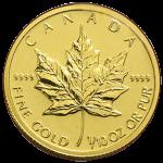カナダメイプルリーフ金貨110oz3.1103gゴールド24K金貨・1枚