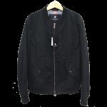 BLACKLABELCRESTBRIDGEサマーライトMA-1ブルゾンミリタリージャケットM黒