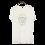グッチTシャツメンズ古着ホワイト系白サイズMコットン半袖クレストUネックGUCCIT