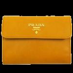 プラダ三つ折り財布レディース