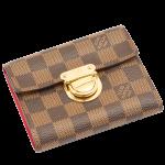 ルイヴィトン 財布 ポルトフォイユコアラ ダミエ・エベヌ N60005 三つ折り財布