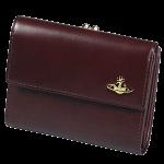 ヴィヴィアン 財布 レディース ヴィヴィアンウエストウッド 二つ折り がま口 口金 女性 ブランド 『ヴィンテージ WATER ORB』 ダークブラウン