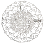 ダイヤモンド オーバルブローチ