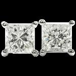 ダイヤモンド プリンセスカット ピアス