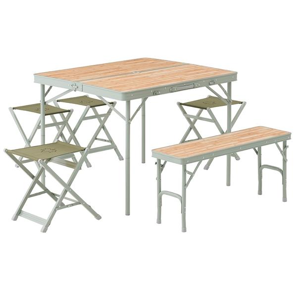 ロゴスLife ベンチテーブルセット6